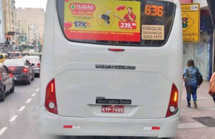Rio: Ônibus circula na linha 636 sem identificação