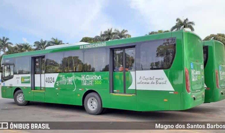 MT: Cuiabá começa receber novos ônibus Caio Apache Vip IV