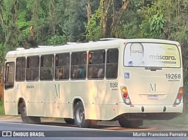 PR: Ônibus da Araucária Transportes sai da pista na Rodovia do Xisto - BR-476 - revistadoonibus