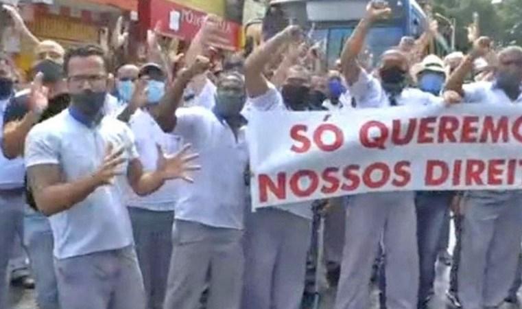 Salvador: Protesto de rodoviários na Estação Lapa chama atenção