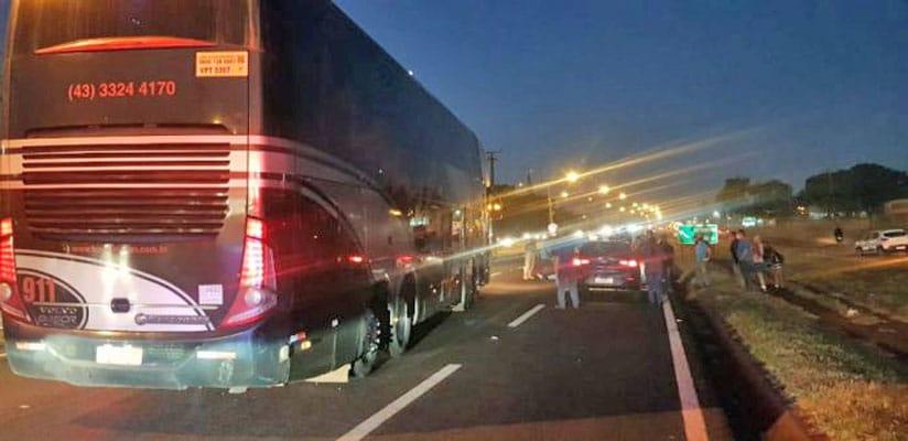 PR: Ônibus rodoviário atropela mulher na BR-396 entre Londrina e Cambé
