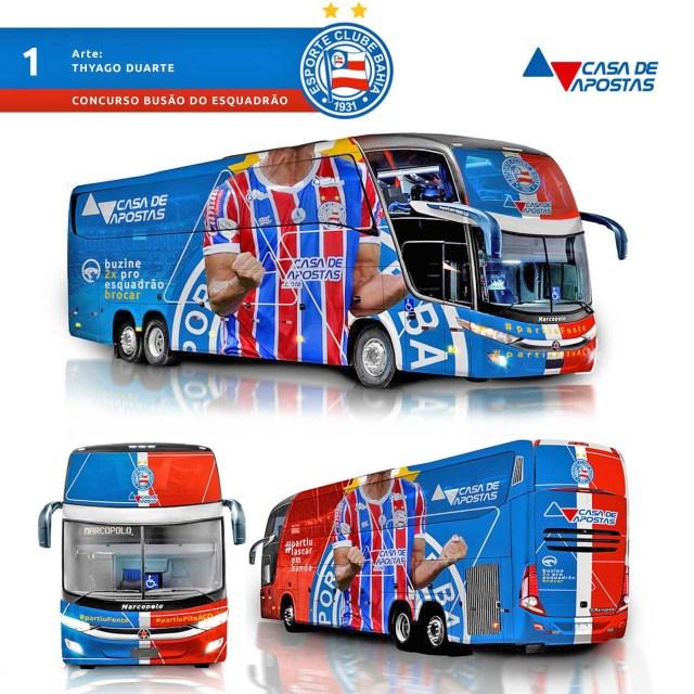 Votação para escolher o novo ônibus do Bahia batizado de Busão do Esquadrão segue na reta final - revistadoonibus
