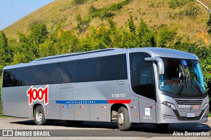 RJ: Auto Viação 1001 começa receber os novos ônibus Busscar El Buss 320 OF-1721