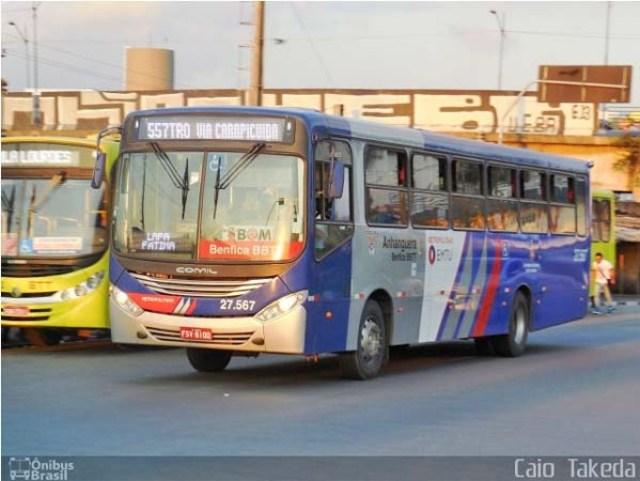 SP: Ônibus da Benfica BBTT acaba incendiado na Estrada da Roselândia, em Cotia - revistadoonibus