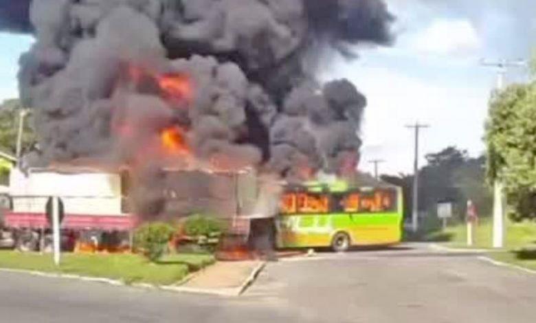 RJ: Morre motorista da Viação Liberdade que dirigia o ônibus que pegou fogo no acidente em Bom Jesus do Itabapoana