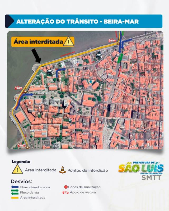 São Luís: Prefeitura fará interdição da Ponte São Francisco e Trecho da Avenida Beira Mar neste domingo - revistadoonibus