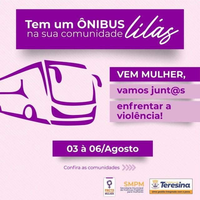 Teresina: Ônibus Lilás atende vários bairros no início do mês de agosto - revistadoonibus