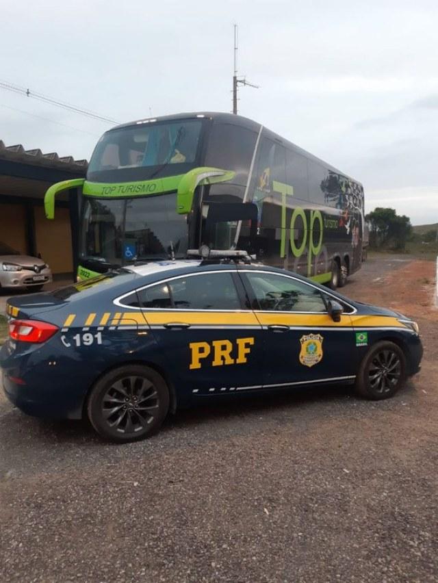 RJ: PRF apreende ônibus adulterado na BR-101 em Campos dos Goytacazes - revistadoonibus