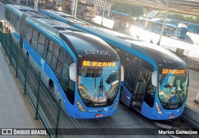 Rio: Dois ônibus articulados do BRT são alvos de vandalismo na noite deste sábado (10)