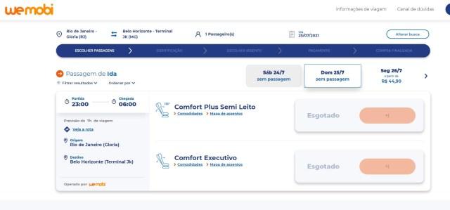 Viação Cometa conquista mais passageiros com o serviço Leito Cama na Rio x BH - Wemobi - revistadoonibus
