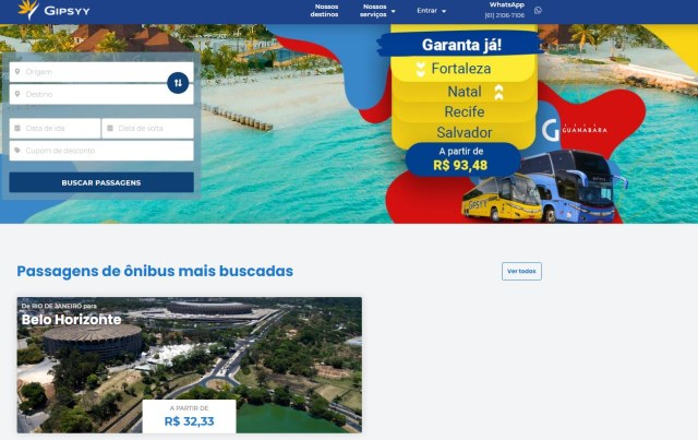 Plataforma Gipsyy já comercializa viagens no Brasil - revistadoonibus