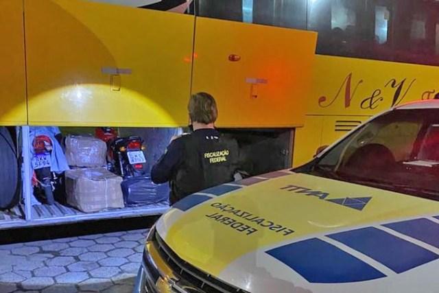 SC: ANTT apreende ônibus durante fiscalização em Garuva - revistadoonibus