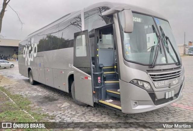 Rio: Opção Fretamento e Turismo surge com ônibus na mesma cor da Auto Viação 1001 - revistadoonibus