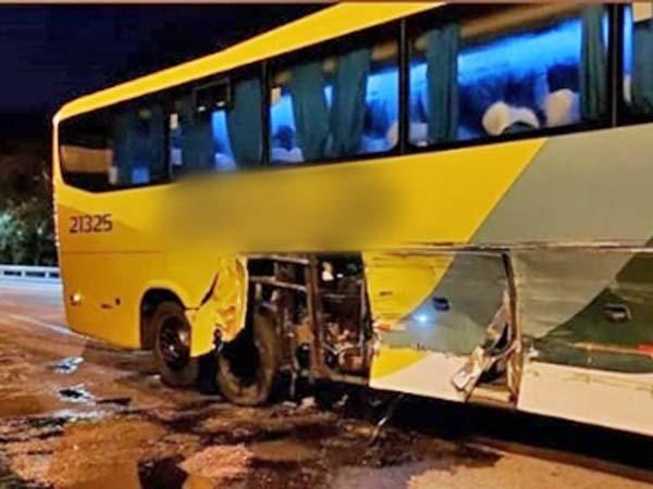 ES: Acidente com ônibus da Gontijo chama a atenção em Marechal Floriano
