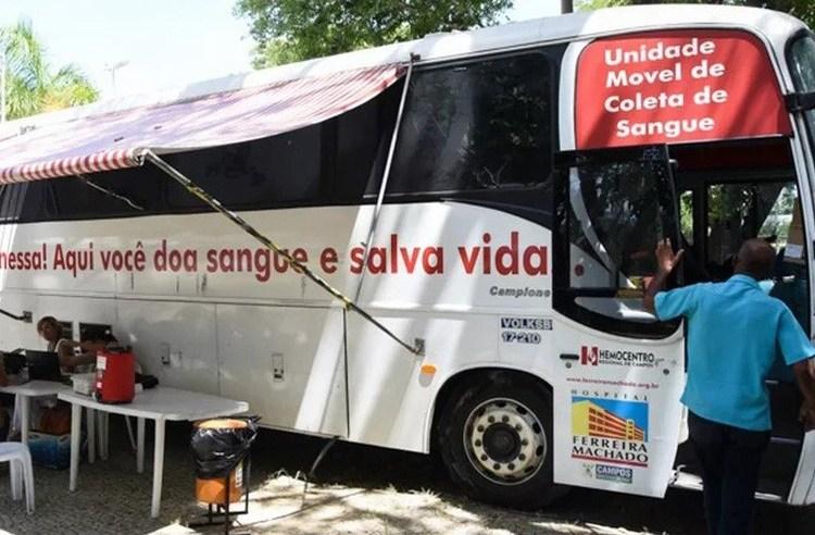 RJ: Campos divulga calendário da Unidade Móvel do Hemocentro