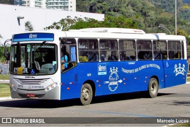 Rio: Surge imagem de ônibus convencional para o BRT Cesário - Ônibus da liberdade - revistadoonibus