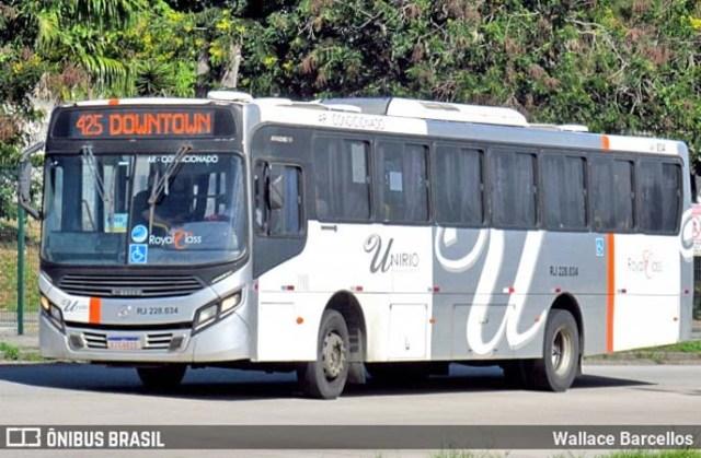 Rio: Acidente entre carro e ônibus da UniRio chama a atenção na Avenida Brasil - revistadoonibus