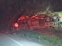 SC: Acidente com ônibus da banda Garotos de Ouro deixa um morto na BR-282 - revistadoonibus