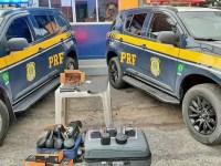 PA: PRF apreende armas e munições durante fiscalização a ônibus, em Castanhal - revistadoonibus
