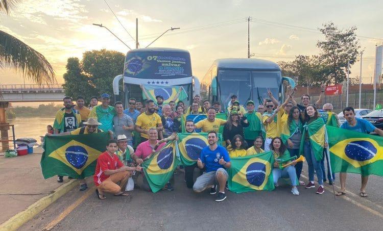 MT: Rondonópolis leva mais de dez ônibus para a manifestação do 7 de setembro em Brasília