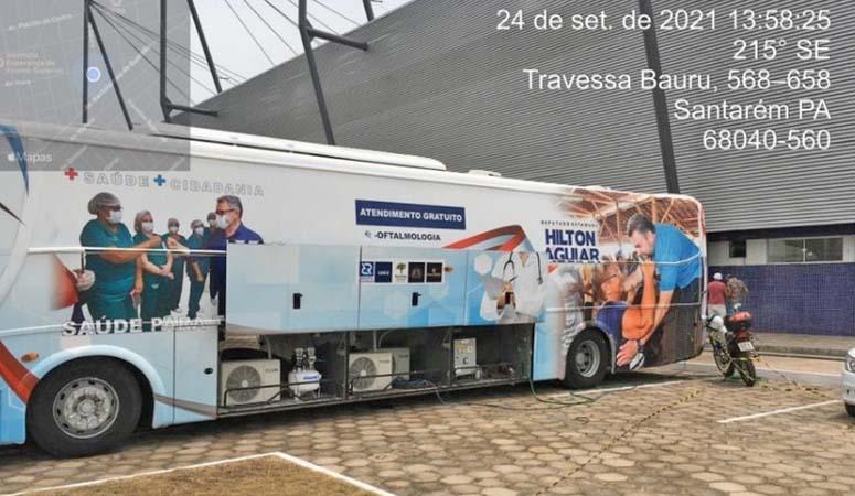 MPPA investiga utilização de ônibus plotado com imagem do deputado Hilton Aguiar, em Santarém