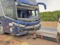 SP: Engavetamento na Rodovia Washington Luís - SP-310 deixa um ferido em Araraquara - revistadoonibus
