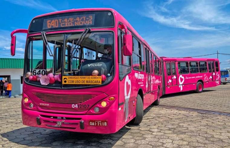 Manaus: Ônibus alertam sobre a prevenção do câncer de mama e de próstata