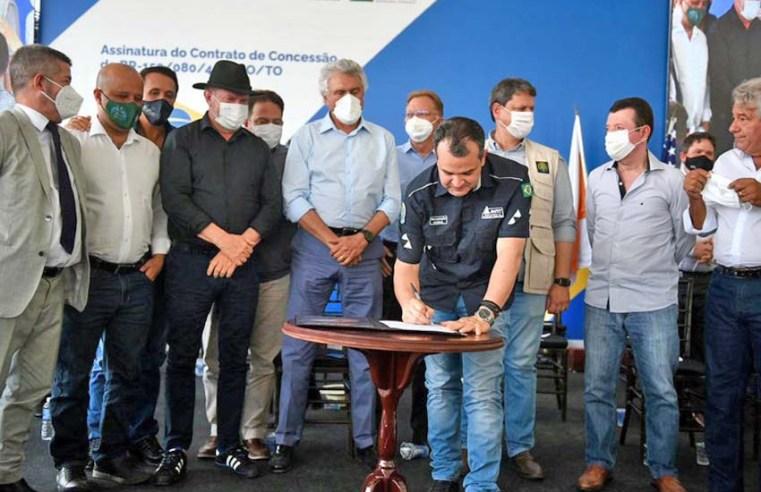 ANTT, Minfra e Ecovias assinam o contrato de concessão da 153/414/080/TO/GO
