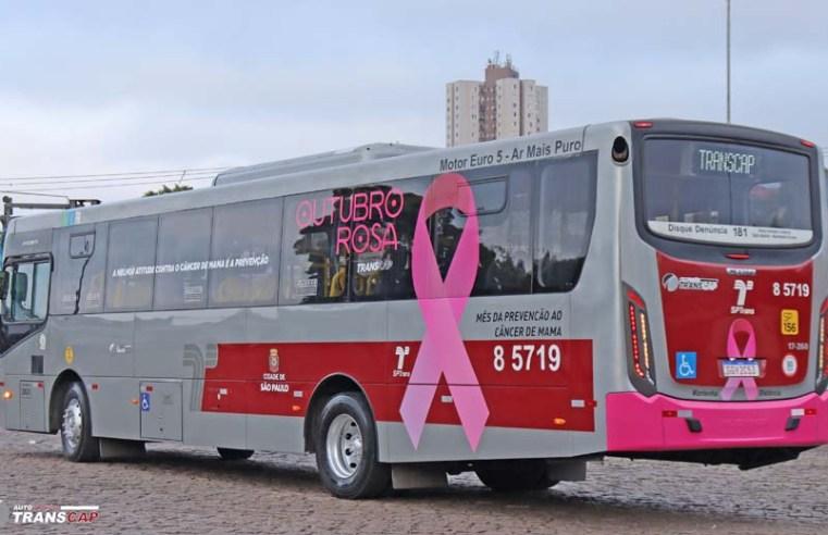 São Paulo: Ônibus são identificados com temas da campanha Outubro Rosa