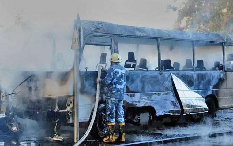 Síria: Ataca a ônibus militar em Damasco deixa 14 mortos