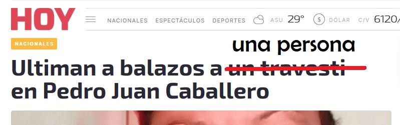 Titular discriminatorio del diario HOY