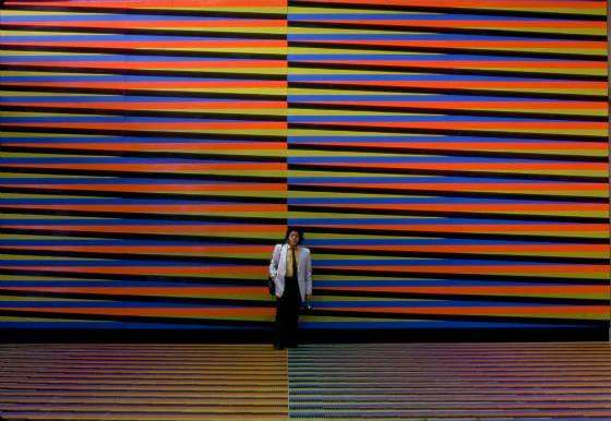 Pisos y muros de color aditivo en el hall central del aeropuerto Simón Bolívar International Airport, Maiquetía, Venezuela [See location on map] Wall and floors of Couleur Additive in the airport's main hall Dim. 270 x 9 m (295 1/4 x 9 27/32 yd)