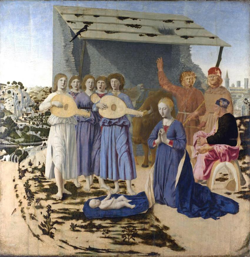 Piero della Francesca, Natividad, Galería Nacional, Londres.