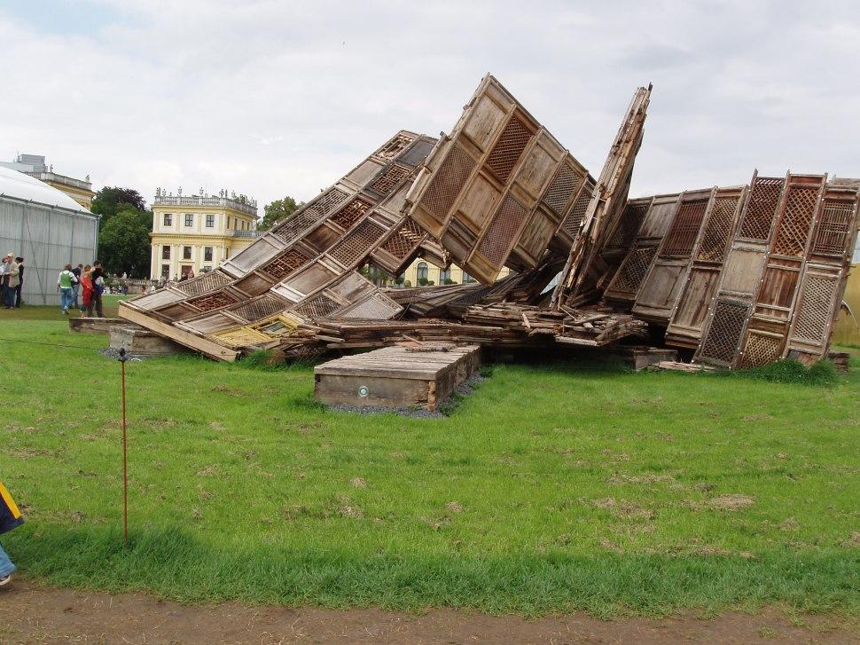 "Documenta 12 Kassel 2007. Ai Weiwei ""Template"" Installation, swept down by a thunderstorm. Documenta 12 Kassel 2007. Foto: David Gómez Fontanills"