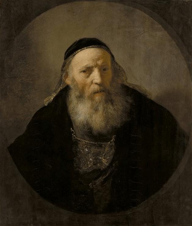 Rembrandt, Busto de anciano con traje de fantasia