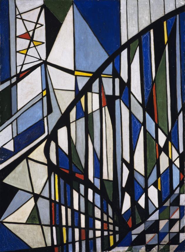 Lygia Clark. Escadas, 1951. Cortesía Museu de Arte Brasileira da Fundação Armando Álvares Penteado, São Paulo