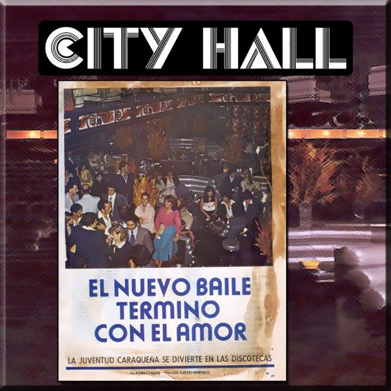 Pista de baile City Hall. Caracas finales de los 70. Fernando Gascón.