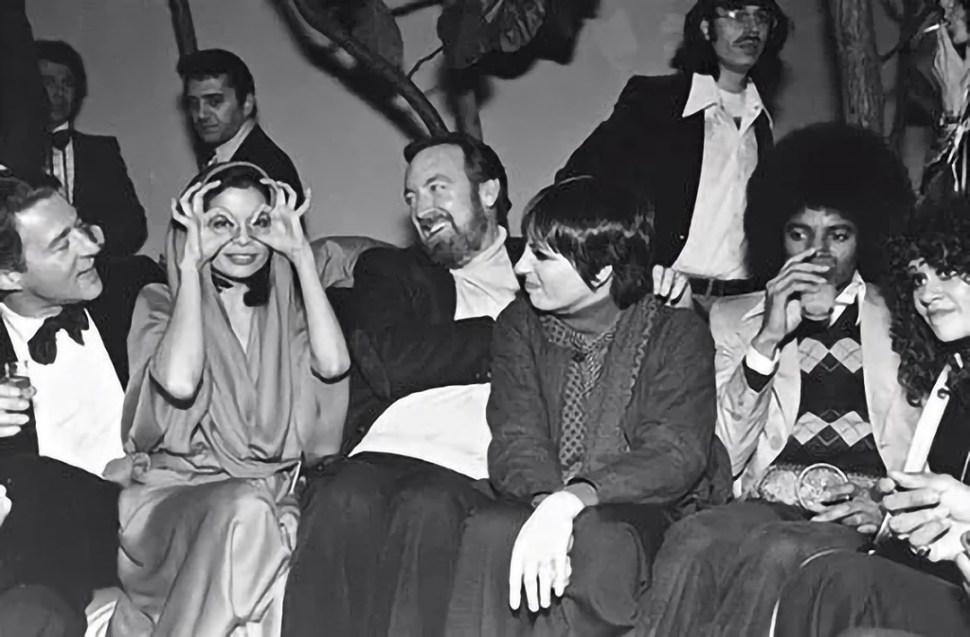 Halston, Bianca Jagger, Liza Minelli y Michael Jackson