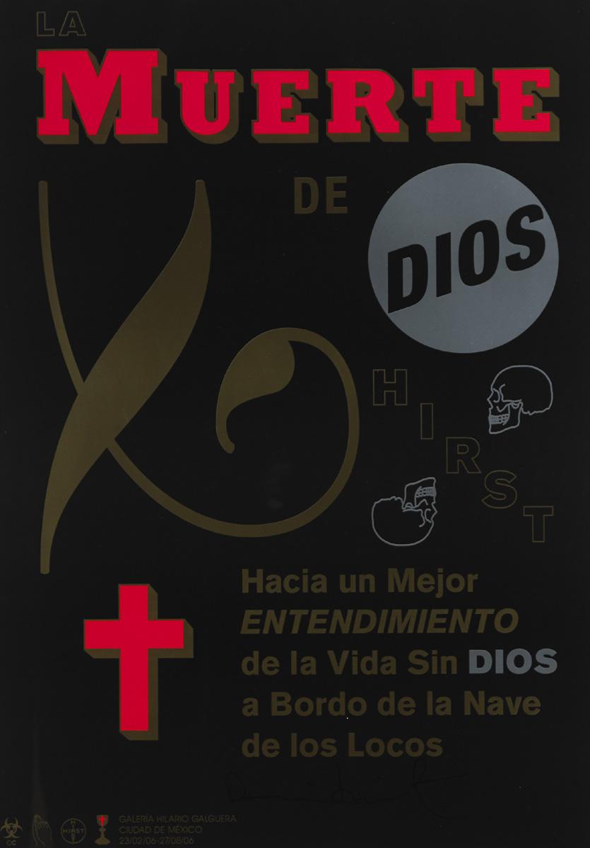 Poster La muerte de Dios, expo de Damien Hirst en México 2015