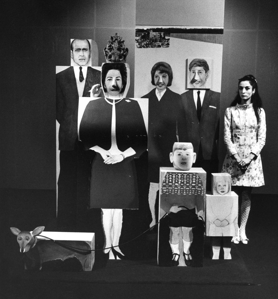Marisol y The British royal family. Sidney Janis gallery 1967. Foto Jill Krementz