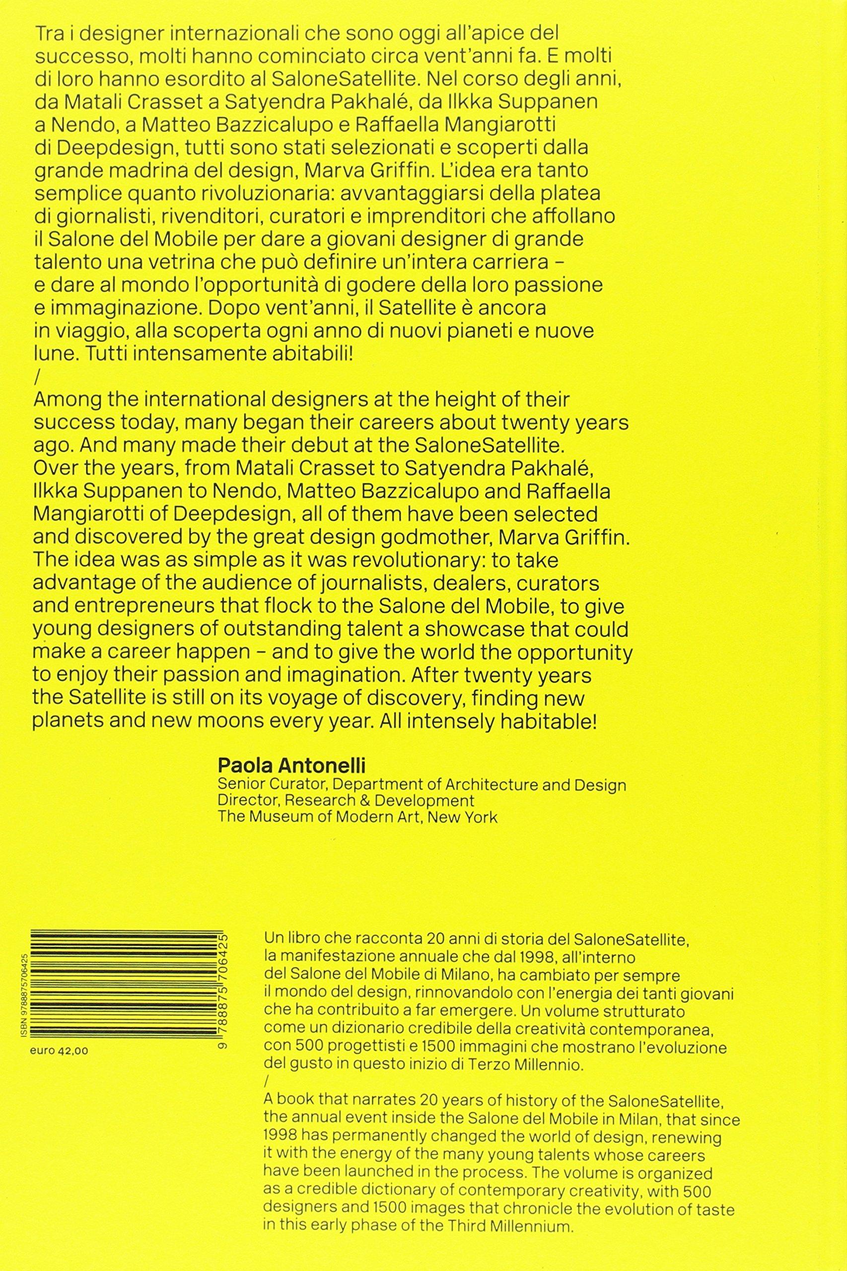 contraportada Libro SaloneSatellite 20 años - 2017
