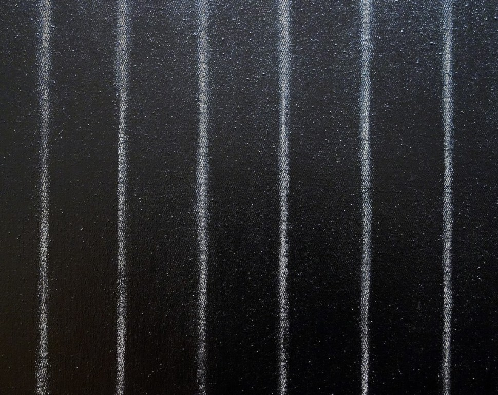 Frank Stella. Detalle Black Painting