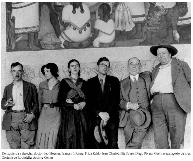 Leo Eloesser, Frances Payne, Frida, Jean Charlot, Elie Faure, Diego Rivera. Cuernavaca 1933. Archivo Fundación Rockefeller.