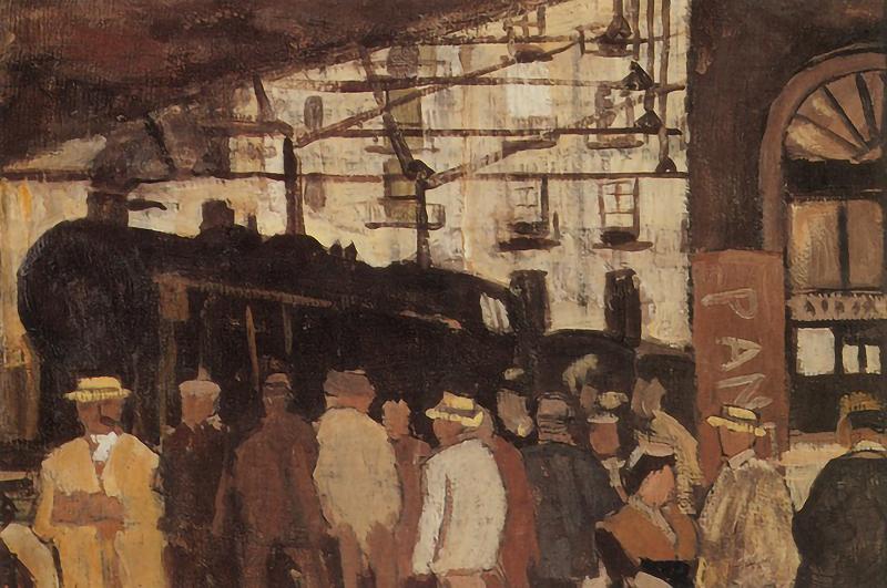 Joaquín Torres García. Estación de tren. 1918.
