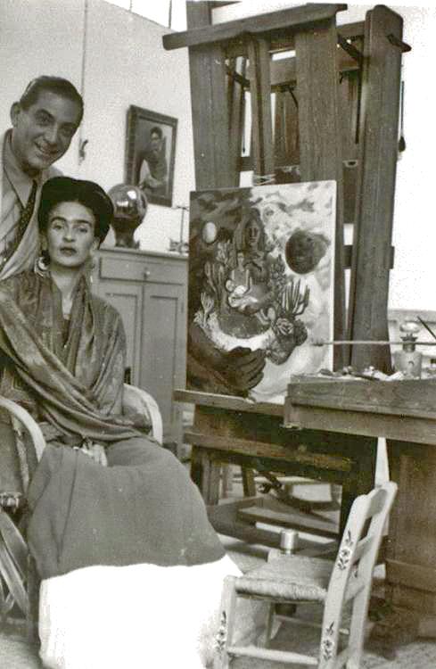 Frida Kahlo con El abrazo del amor del universo, 1949.