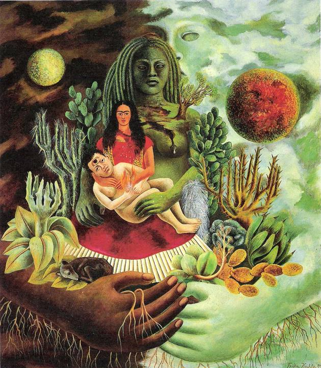 Frida Kahlo. El abrazo del amor del universo, 1949.