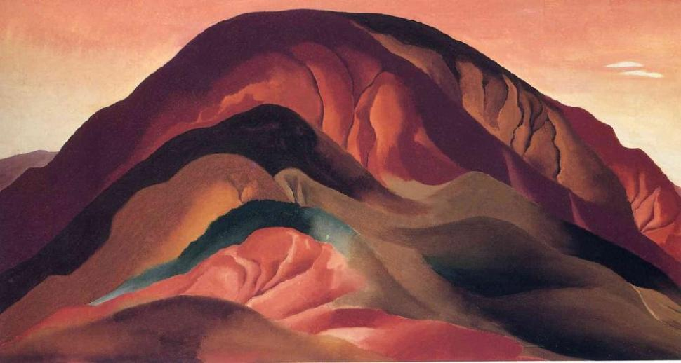 Georgia O'Keeffe Rust Red Hills 1930