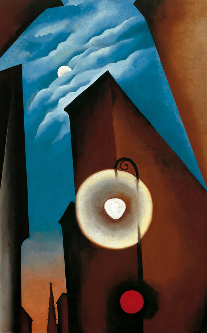 Georgia O'Keeffe New York with moon 1925