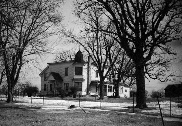 Georgia O'Keeffe lugar de nacimiento en Sun Praire en Wisconsin. Cortesía de la Sociedad histórica de Wisconsin.