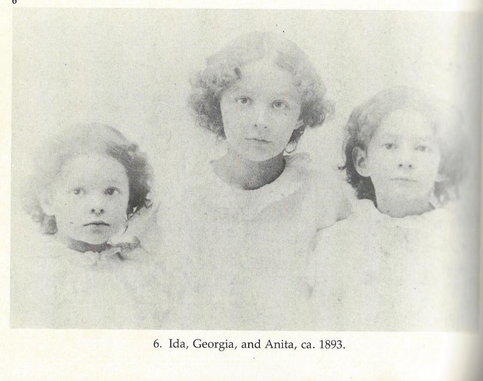 Ida, Georgia y Anita O'Keeffe 1893